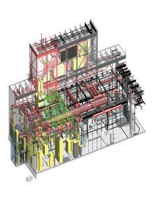 شبیه سازی سه بعدی تاسیسات مکانیکی