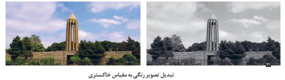 تبدیل تصویر رنگی به مقیاس خاکستری